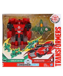 Transformers RID Activator Combiner Pack Great Byte & Sideswipe Figures Red Green - 14 cm