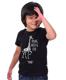 Bonorganik Young Wild & Five Birthday Tee - Black