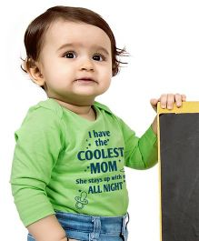 Bonorganik I Have The Coolest Mom Babysuit - Green