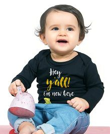 Bonorganik I'Am New Here Babysuit - Black