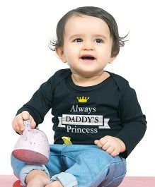 Bonorganik Daddy'S Princess Babysuit - Black