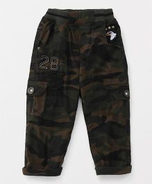 Jash Kids Full Length Pant Camouflage Print - Olive Green