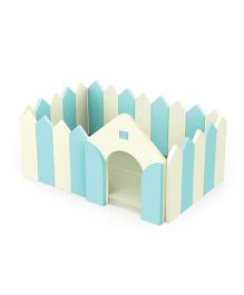 Alzip Fence And Play Mat - Mint Green Cream