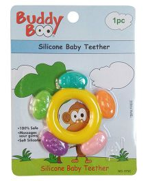 Buddyboo Circle Shaped Silicone Baby Teether - Yellow