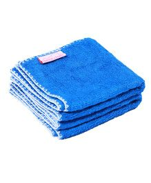 Mumma's Touch Organic Bamboo Baby Wash Towel Set of 2 Small - Royal Blue With White Border