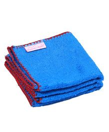 Mumma's Touch Organic Bamboo Baby Wash Towel Set of 2 - Royal Blue Red