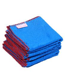 Mumma's Touch Organic Bamboo Baby Wash Towel Set of 4 - Royal Blue Red