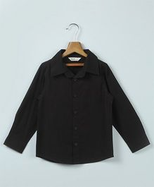 Beebay Full Sleeves Plain Shirt - Black