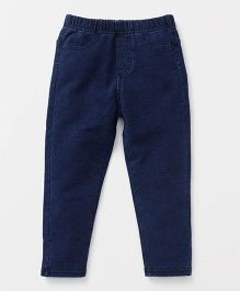Fox Baby Full Length Jeggings - Blue