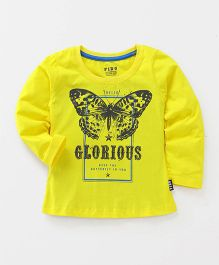 Fido Full Sleeves Top Glorious Print - Yellow