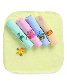 Tinycare Printed Face Napkins Set Of 5 - Multicolor
