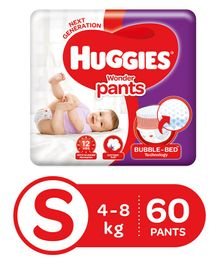 Huggies Wonder Pants Small Pant Style Diapers - 60 Pieces