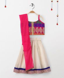 Twisha Tie Up Choli With Lehanga - Off White