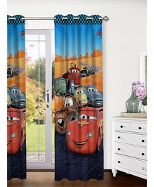 Athom Trendz Disney Pixar Cars Door Curtain CAR-409-DC1-E - Blue Multicolor