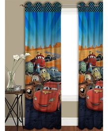 Athom Trendz Disney Pixar Cars Long Door Curtain CAR-409-LC1 - Blue Multicolor