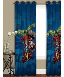 Athom Trendz Marvel Avengers Long Door Curtain MAR-408-LC1 - Blue Red Green