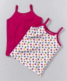 Babyhug Singlet Slips Pack of 2 - Pink White