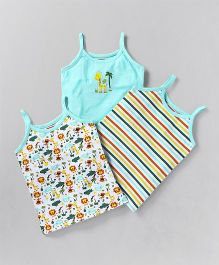 Babyhug Singlet Slips Pack of 3 - Aqua Blue