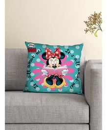Athom Trendz Disney Minnie Mouse Cushion With Cover DIS-10-3-D15-FL-M - Blue Pink