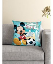 Athom Trendz Disney Mickey Mouse Cushion With Cover DIS-10-3-D26-FL-M - Blue