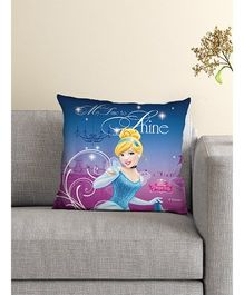 Athom Trendz Princess Cinderella Cushion With Cover DIS-10-3-D40-FL-M - Blue
