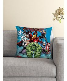 Athom Trendz Marvel Avengers Cushion With Cover - Blue