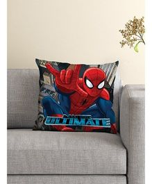 Athom Trendz Marvel Spider Man Cushion With Cover - Black