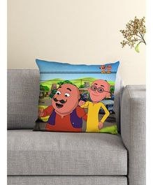 Athom Trendz Motu Patlu Cushion With Cover MTP-10-3-M20-FL-M - Blue