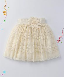 Party Princess Stylish Tutu Skirt -  Off White