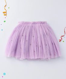 Party Princess Layered Skirt With Beads - Mauve