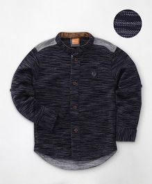 Little Kangaroos Full Sleeves Solid Shirt - Navy