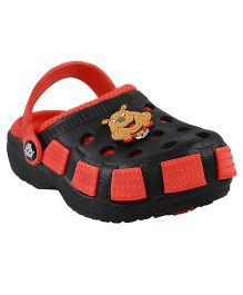 Imagica Clogs Doggy Design - Red Black