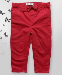 Bella Moda Solid Color Denim - Red
