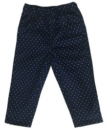 Kiddopanti Full Length Pull On Dotted Trouser - Navy Blue