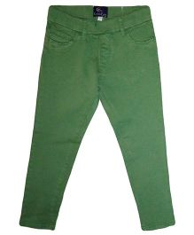 Kiddopanti Full Length Solid Colour Jeggings - Green