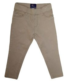 Kiddopanti Full Length Pull On Trouser - Khaki