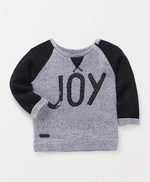 Spark Raglan Sleeves Sweatshirt Joy print - Grey Black