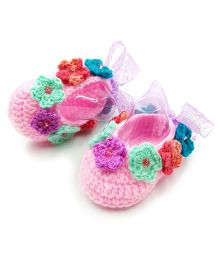 Magic Needles Crochet Booties - Pink