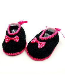 Magic Needles Crochet Booties - Black