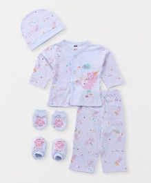 Simply Clothing Gift Set Multi Print - Blue