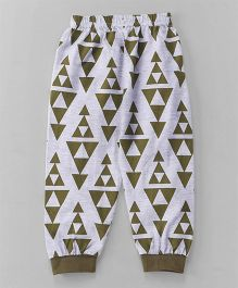 Mini Taurus Full Length Printed Track Pants - Light Grey Green