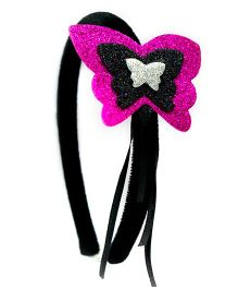 Carolz Jewelry Butterfly Design Hairband - Fuchsia Pink