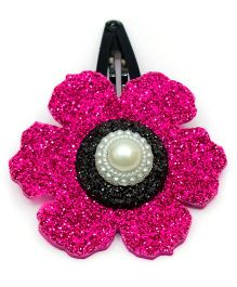 Carolz Jewelry Glitter Flower Single Tic Tac - Fuchsia Pink