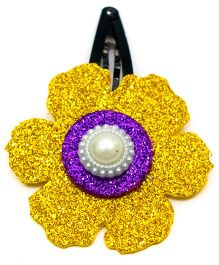 Carolz Jewelry Glitter Flower Single Tic Tac - Gold