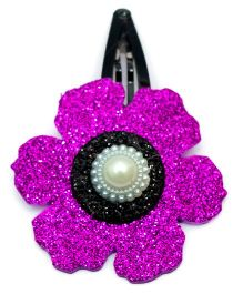 Carolz Jewelry Glitter Flower Single Tic Tac - Dark Purple