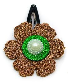 Carolz Jewelry Glitter Flower Single Tic Tac - Brown