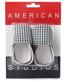 American Studio Anti Skid Checks & Denim Booties - Black & White