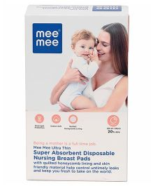 Mee Mee Super Absorbent Disposable Nursing Pads - 24 Pieces