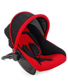 Rear Facing Car Seat Cum Carry Cot - Red And Black