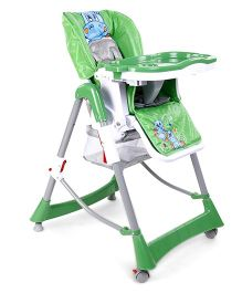 High Chair With Tray Animal Print - Green